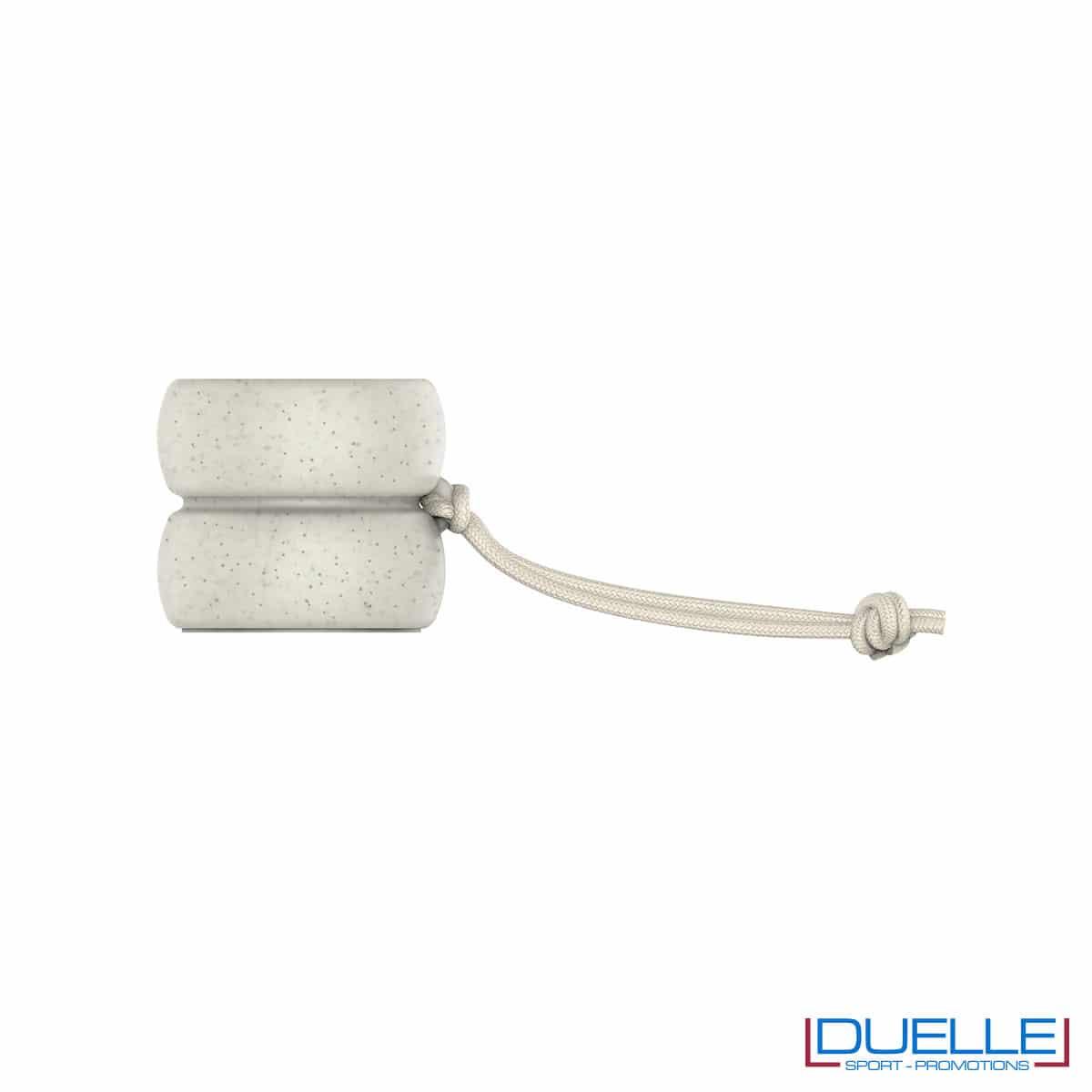 Cassa ecologica in plastica biodegradabile e fibra di grano a forma di yo-yo