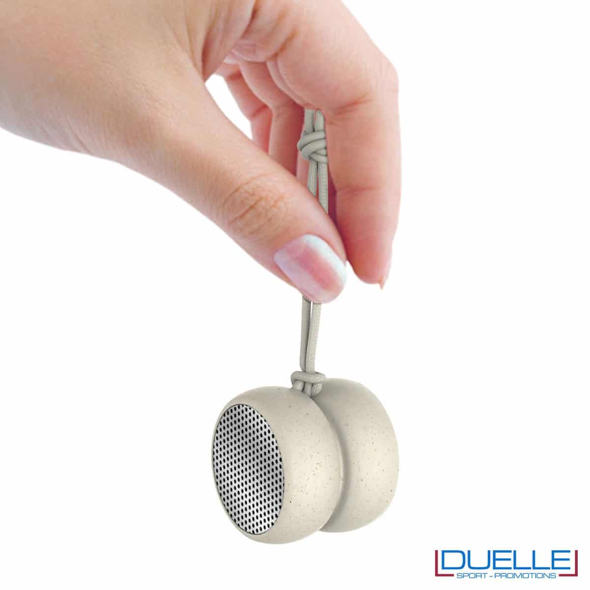 Altoparlante ecologico in plastica biodegradabile a forma di yo-yo
