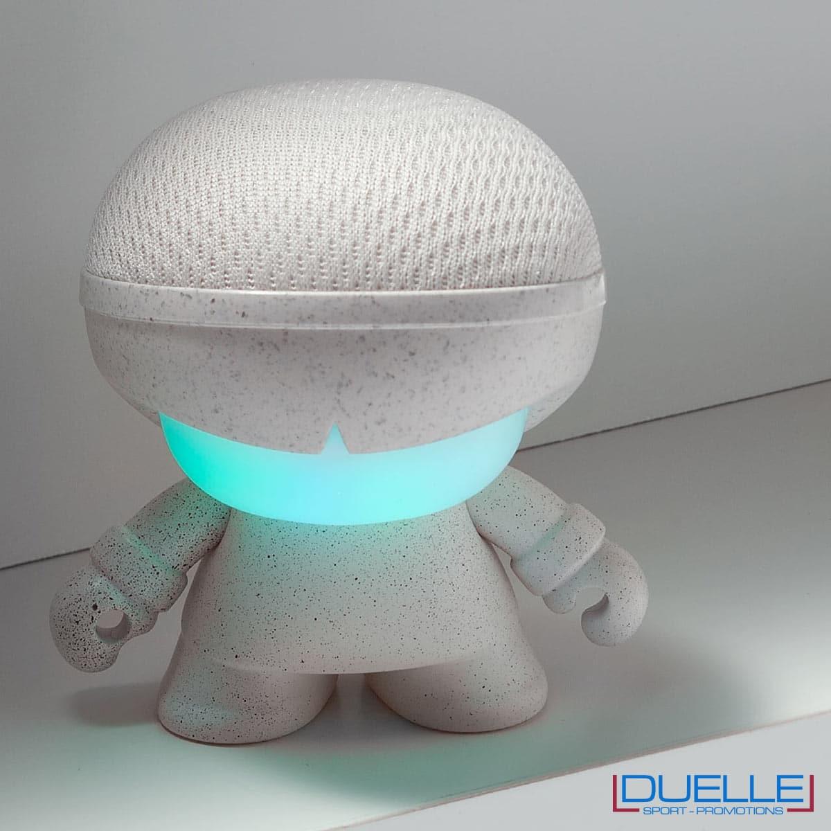 Speaker bluetooth ecologico in fibra di grano personalizzato con luce led