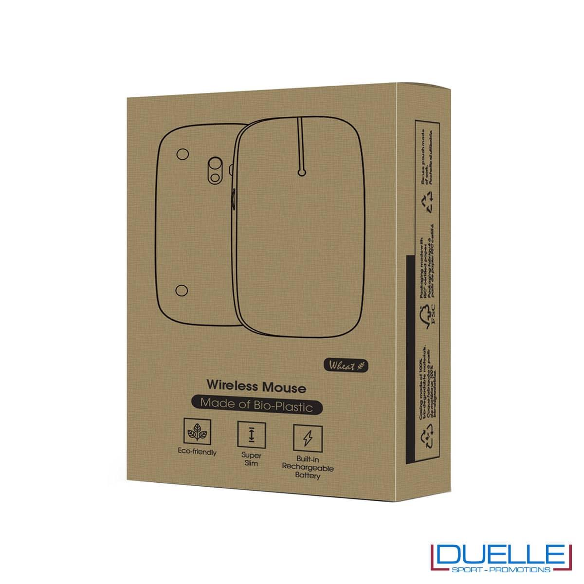 Confezione per Mouse wireless ecologico con luce led
