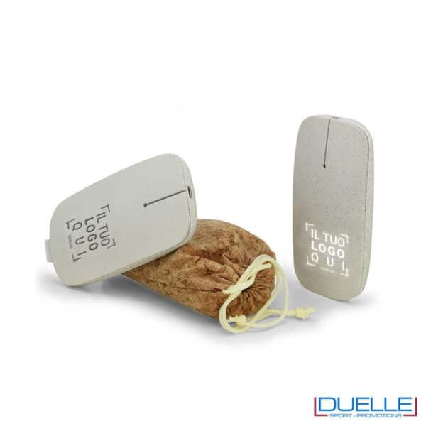 Mouse wireless ecologico personalizzato con luce led