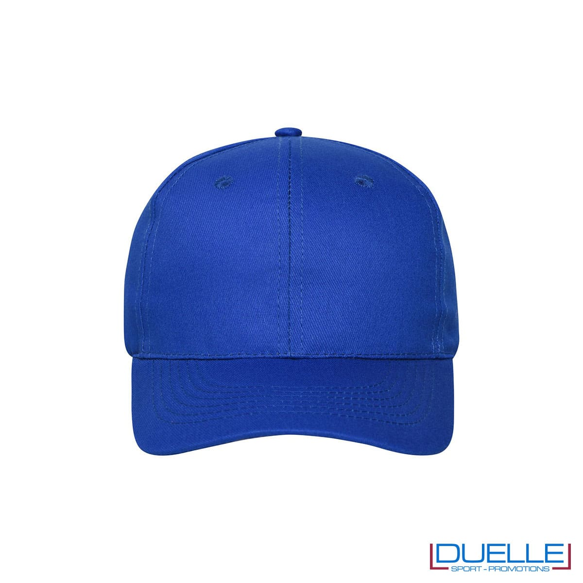 Cappellino cotone organico 6 pannelli colore blu royal