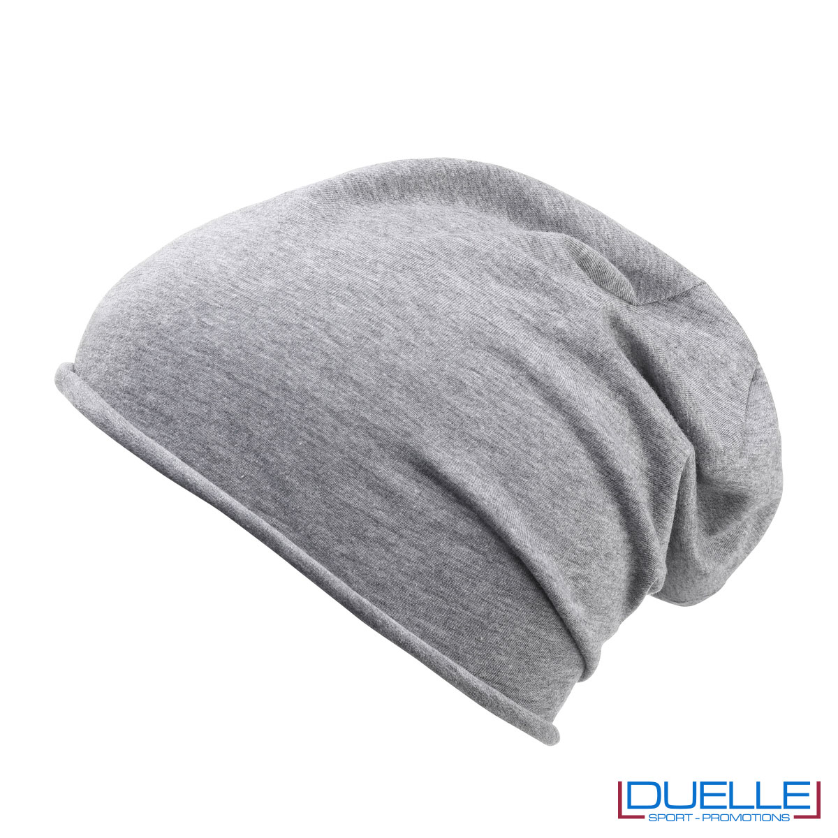 Cuffia cotone organico colore grigio melange personalizzata
