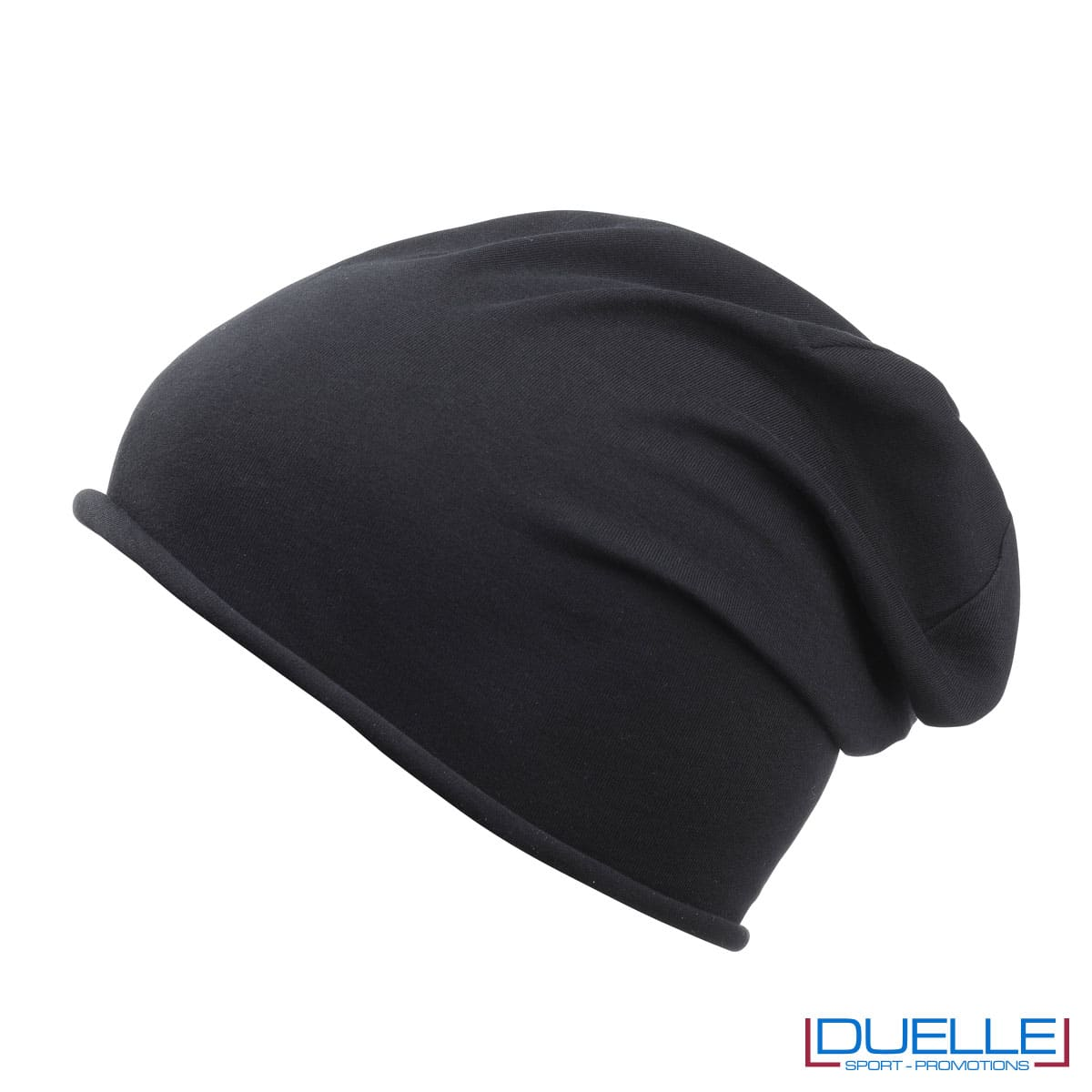 Cuffia cotone organico colore nero personalizzata