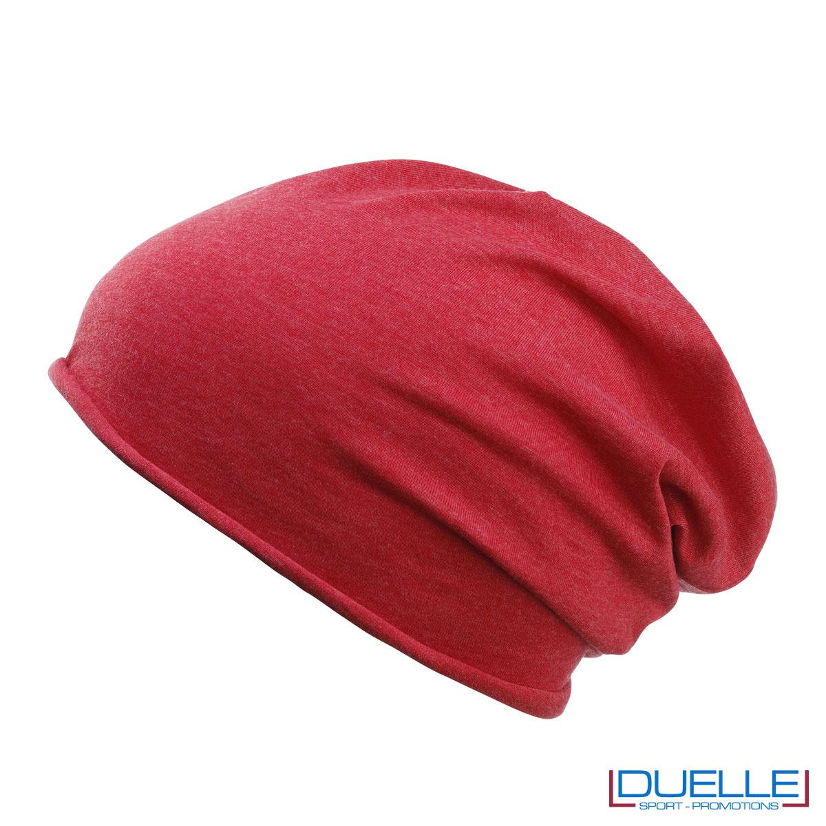 Cuffia cotone organico colore rosso personalizzata