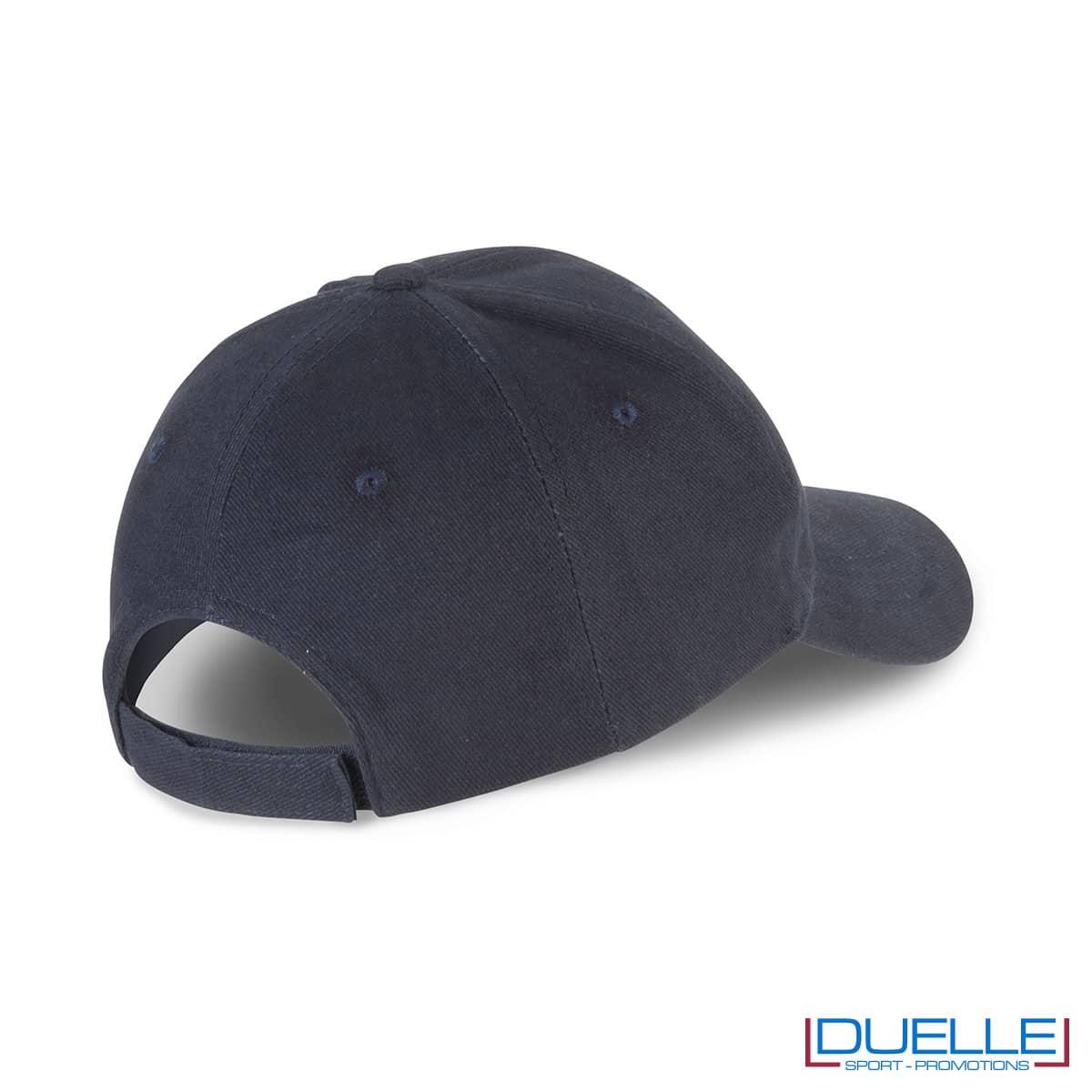 Chiusura con velcro per cappellino in cotone biologico personalizzato con ricamo