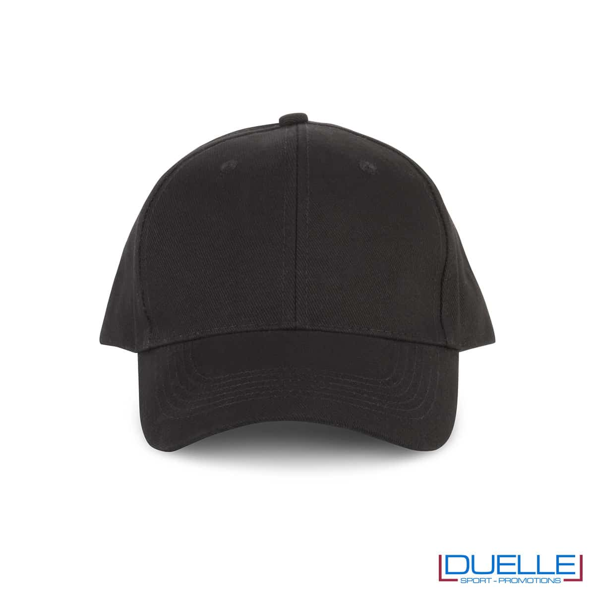 Cappellino in cotone biologico personalizzato con ricamo colore nero