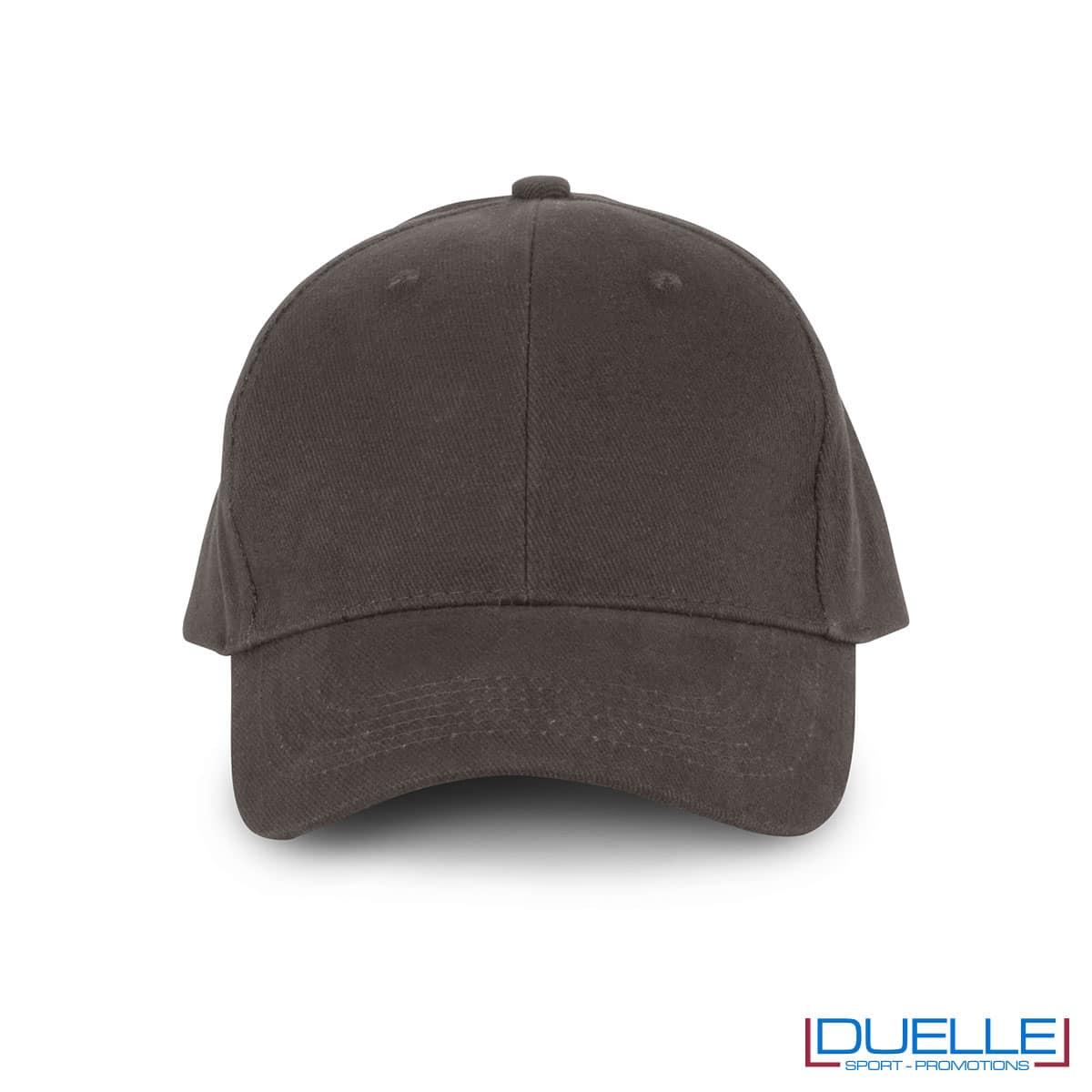 Cappellino in cotone biologico personalizzato con ricamo colore grigio