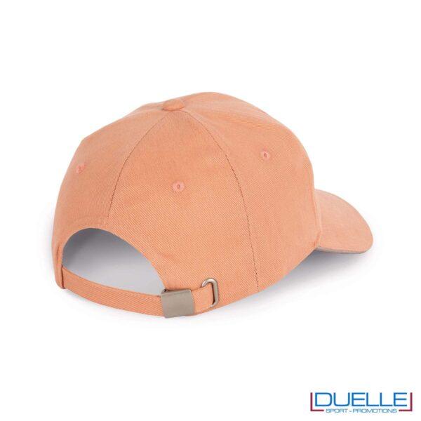 Chiusura cappello ecologico cotone bio colore rosa personalizzabile con ricamo