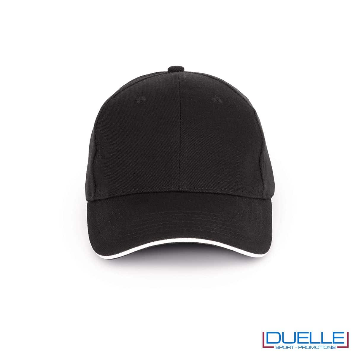Cappello ecologico cotone bio colore nero personalizzabile con ricamo