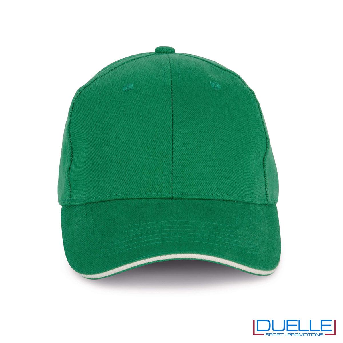 Cappello ecologico cotone bio colore verde personalizzabile con ricamo