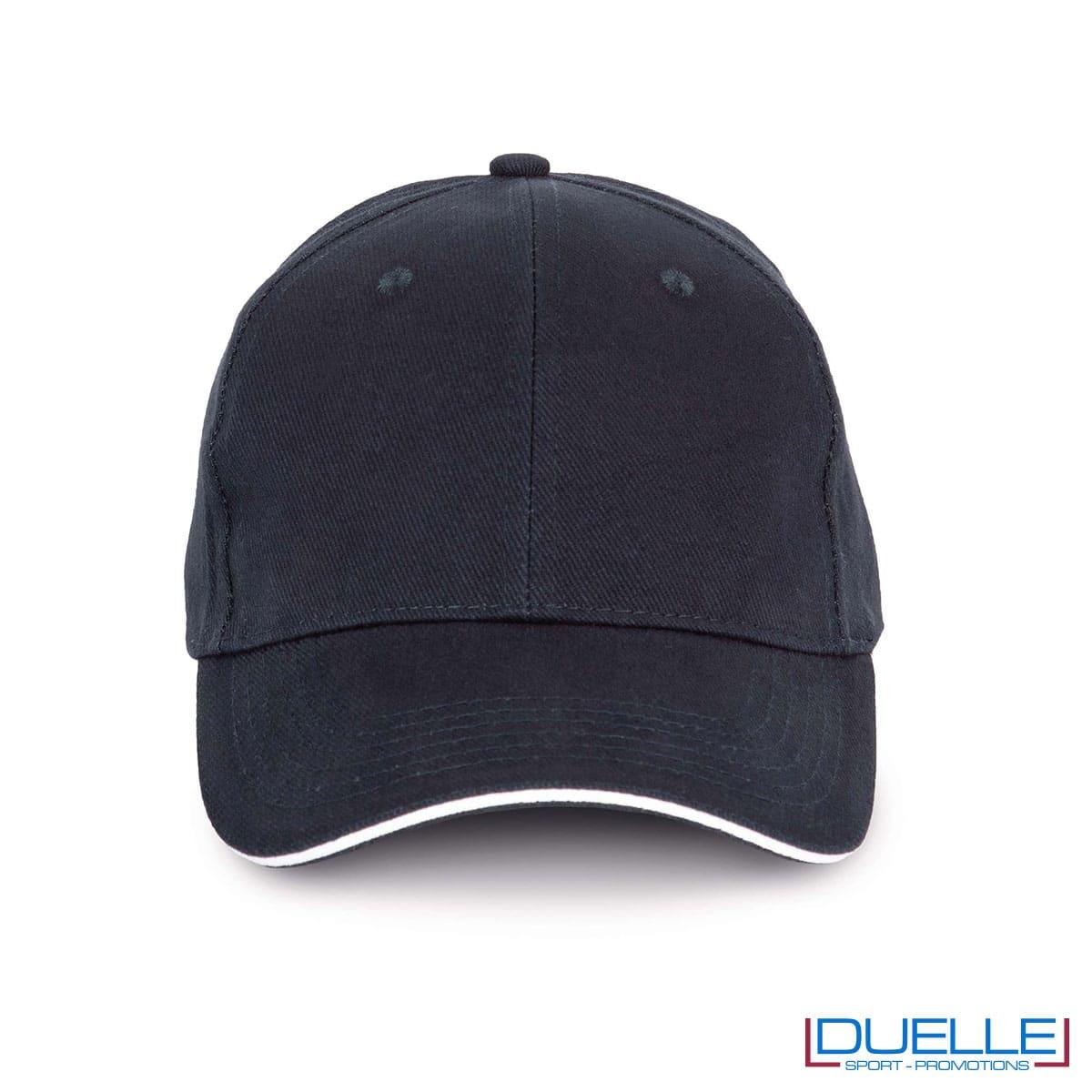 Cappello ecologico cotone bio colore blu navy personalizzabile con ricamo