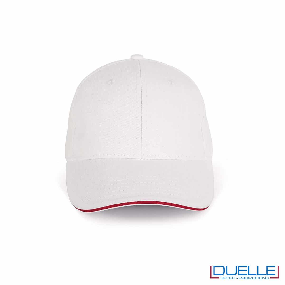 Cappello ecologico cotone bio colore bianco personalizzabile con ricamo
