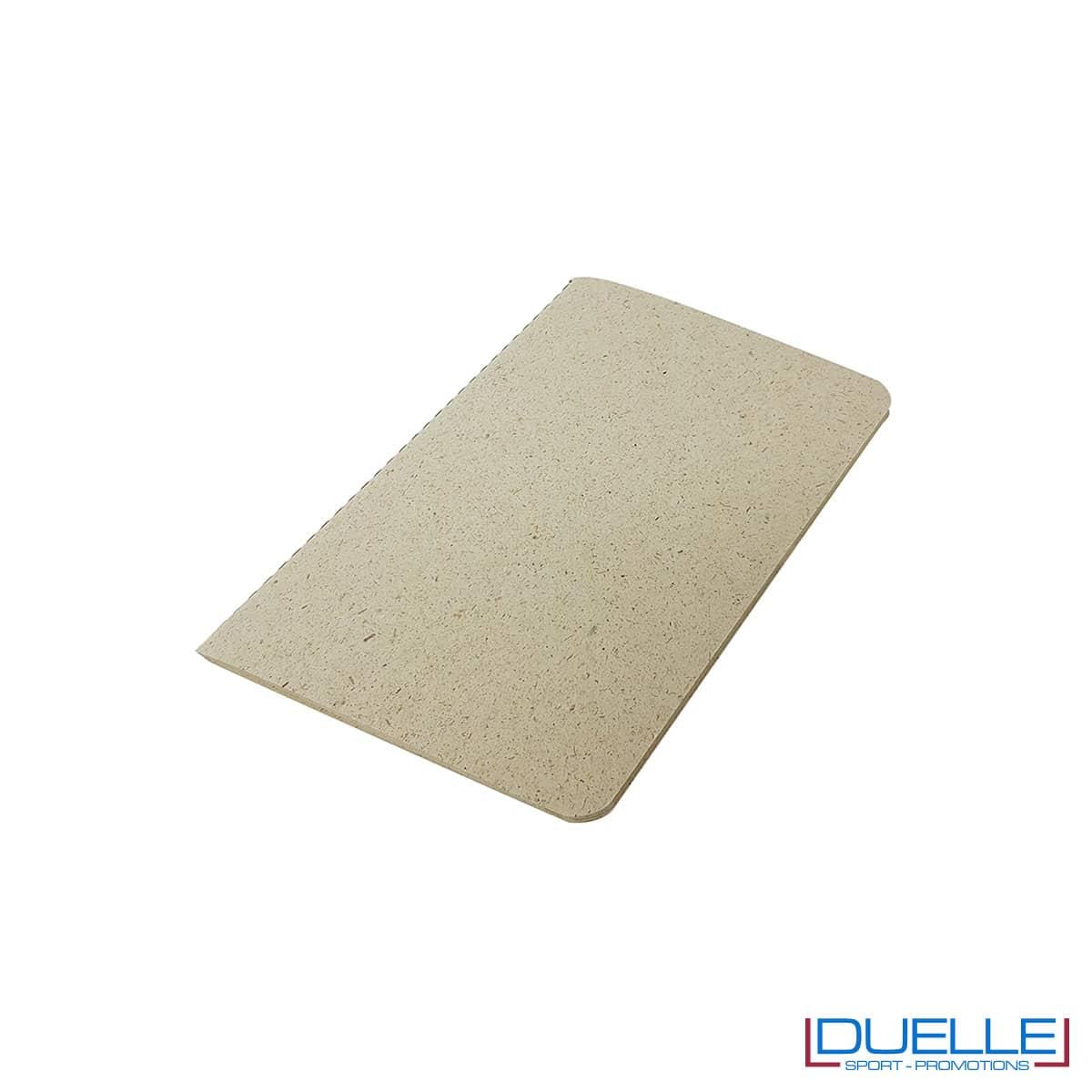 Taccuino A6 in carta di erba essiccata e cellulosa personalizzato