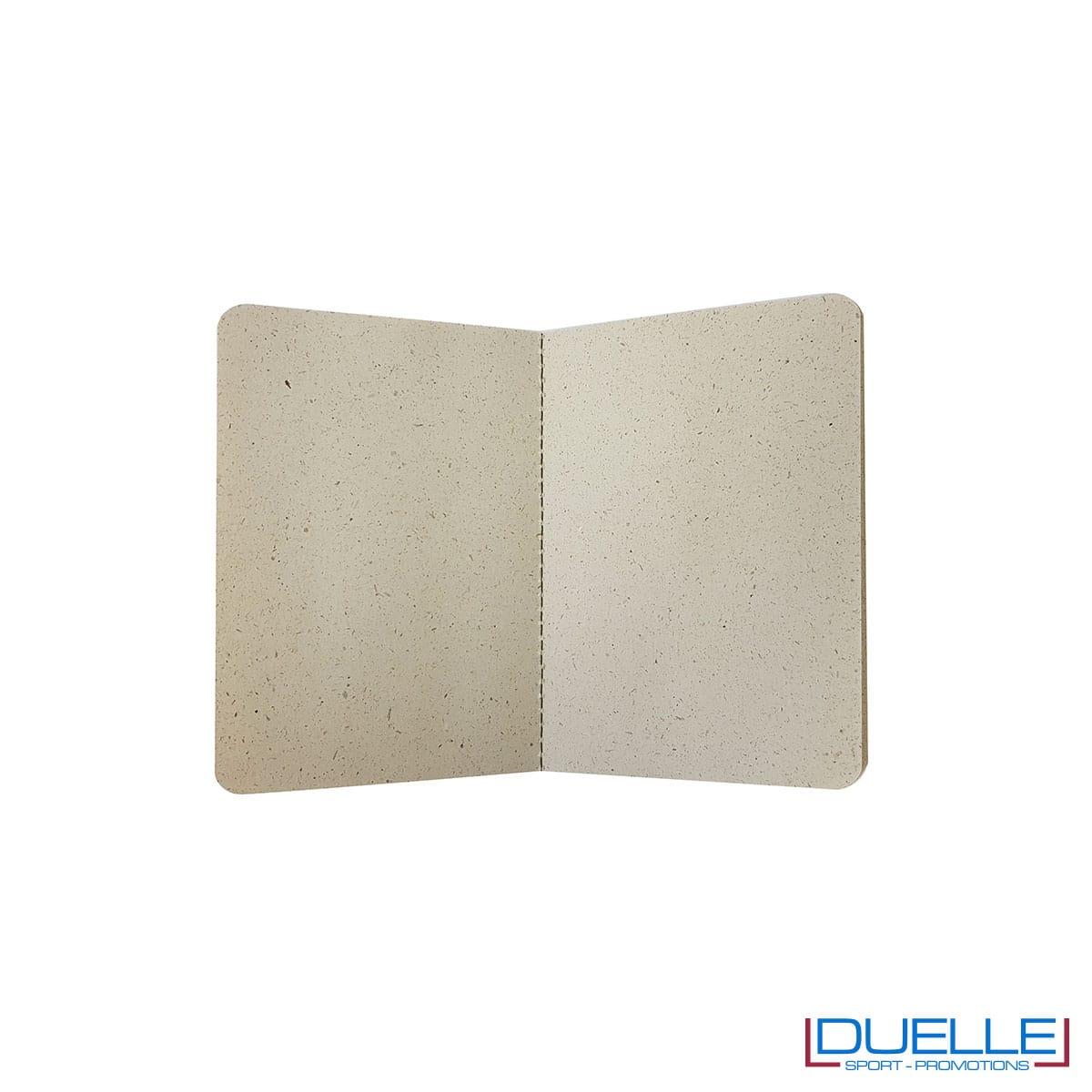 Pagine interne taccuino flessibile in carta derivante da erba essiccata