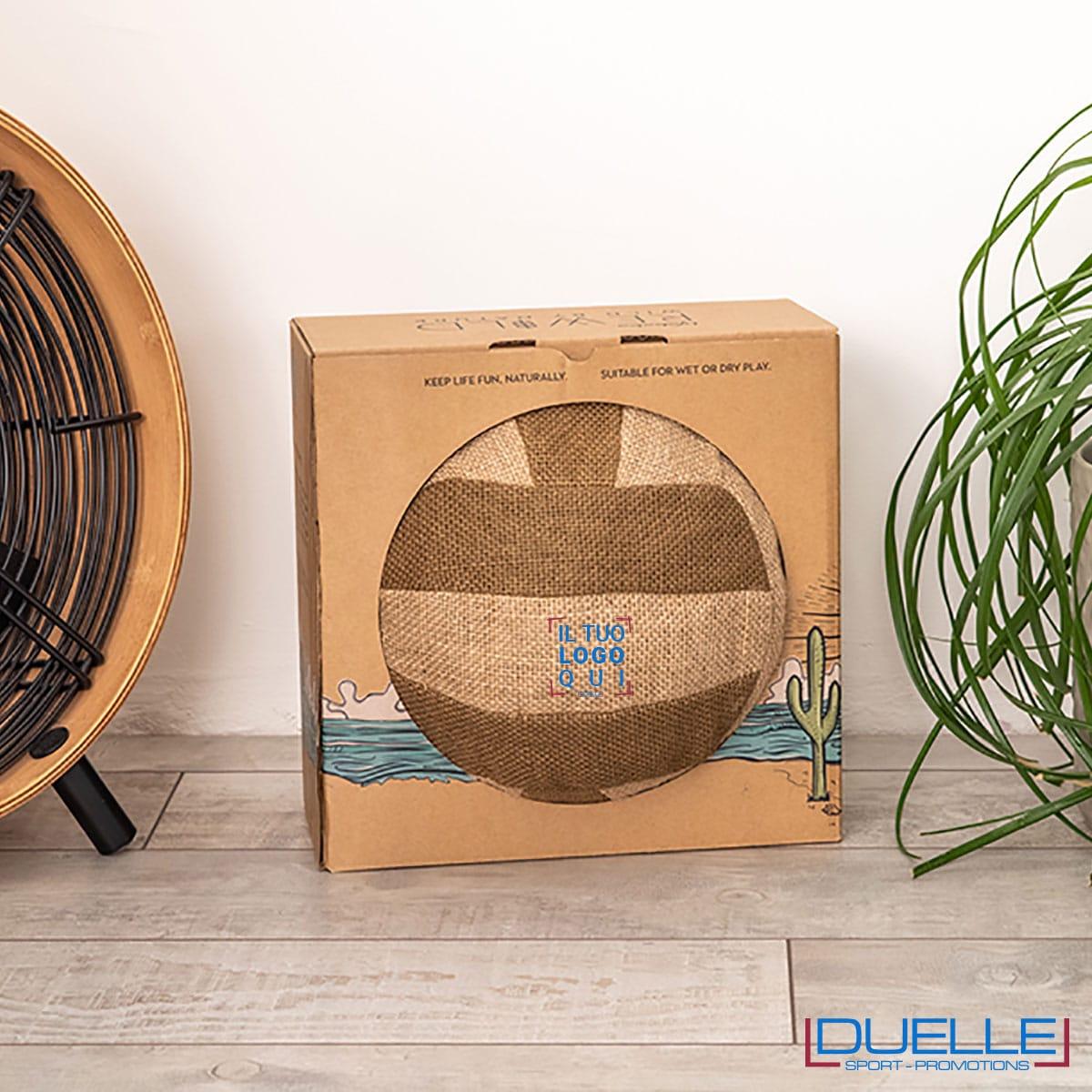 Palla beach volley iuta con logo in scatola
