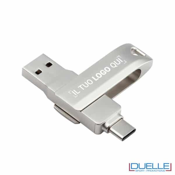 Pennetta USB 3.1 con logo inciso