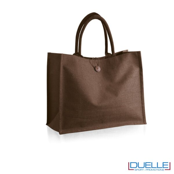 Borsa in Juta marrone