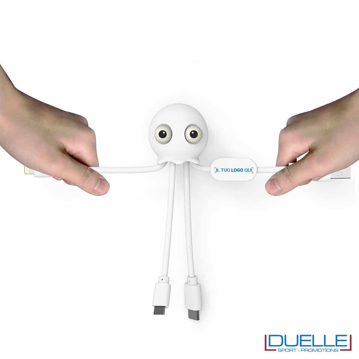 Cavo USB multiplo personalizzato con stampa del tuo logo