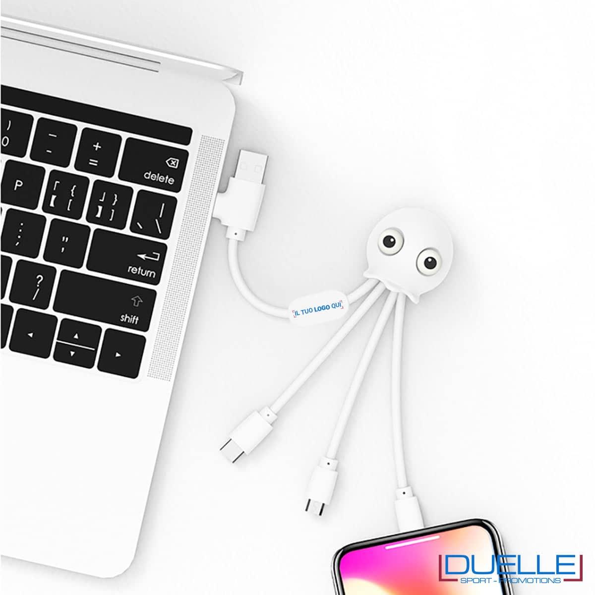 Confezione cavo USB multiplo con 4 uscite diverse