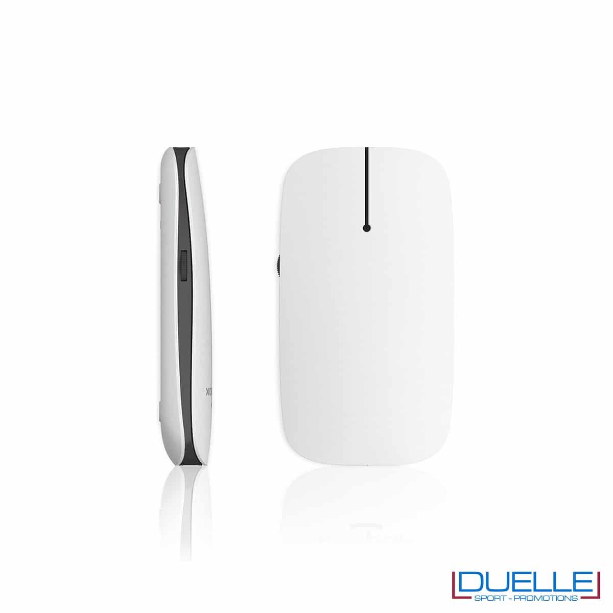 Mouse computer senza fili con logo led grigio