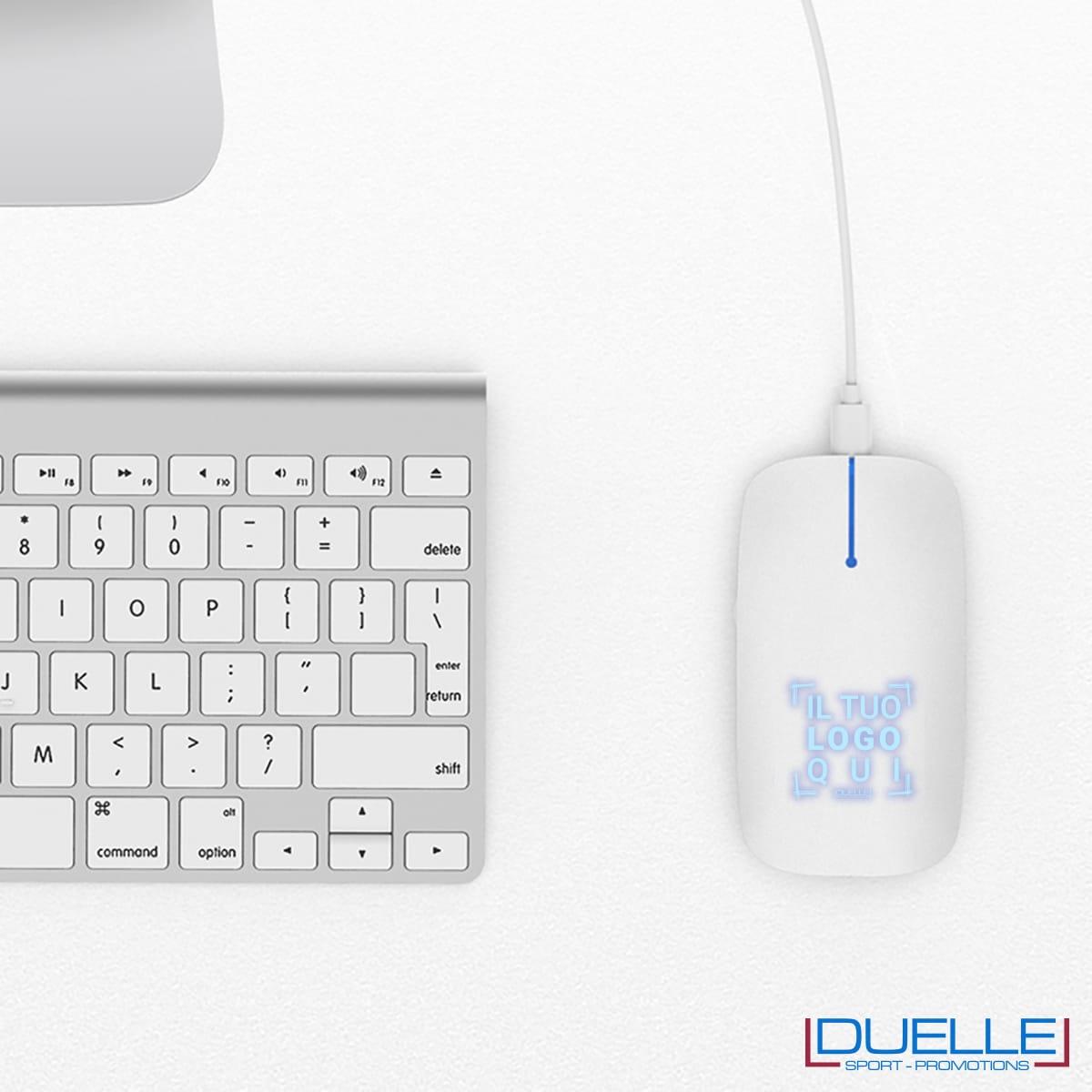 Mouse senza fili per PC personalizzato con led luminoso