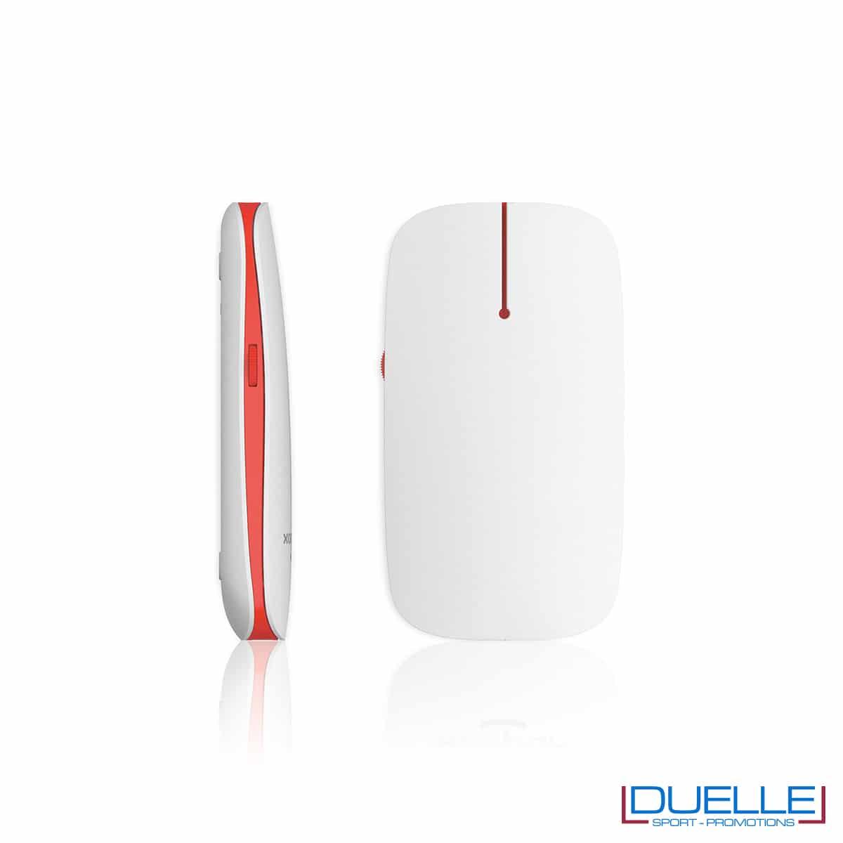 Mouse PC senza fili personalizzato con led rosso