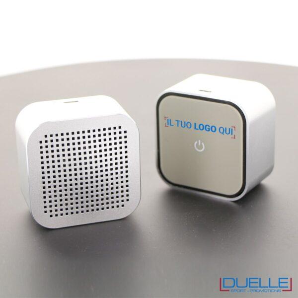 Mini speaker quadrato con logo