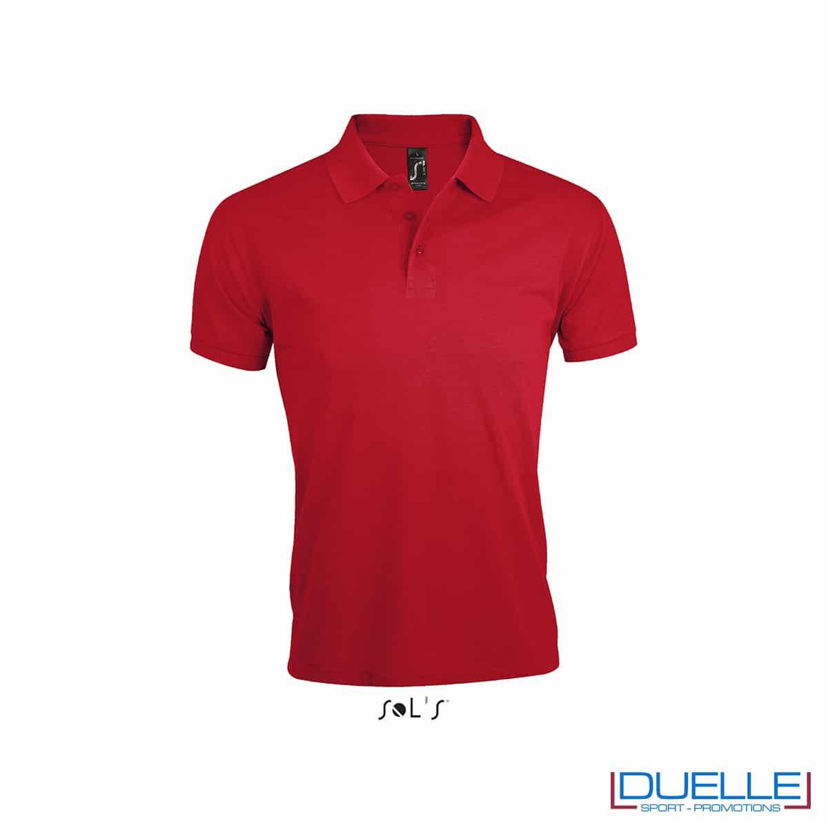 Maglietta rossa polo da lavoro con logo