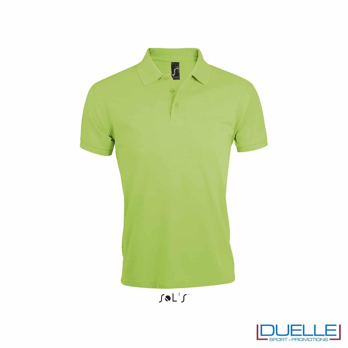 Polo maniche corte fresca verde chiaro branding