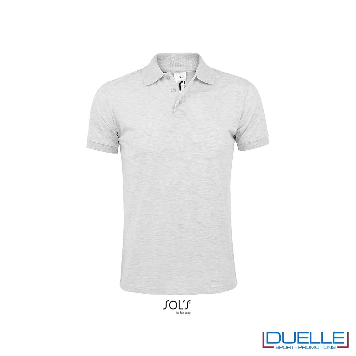 T-shirt polo promozionale cenere poliestere
