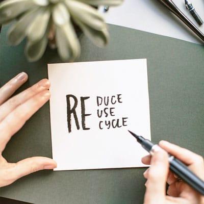 Carta riciclata con logo azienda