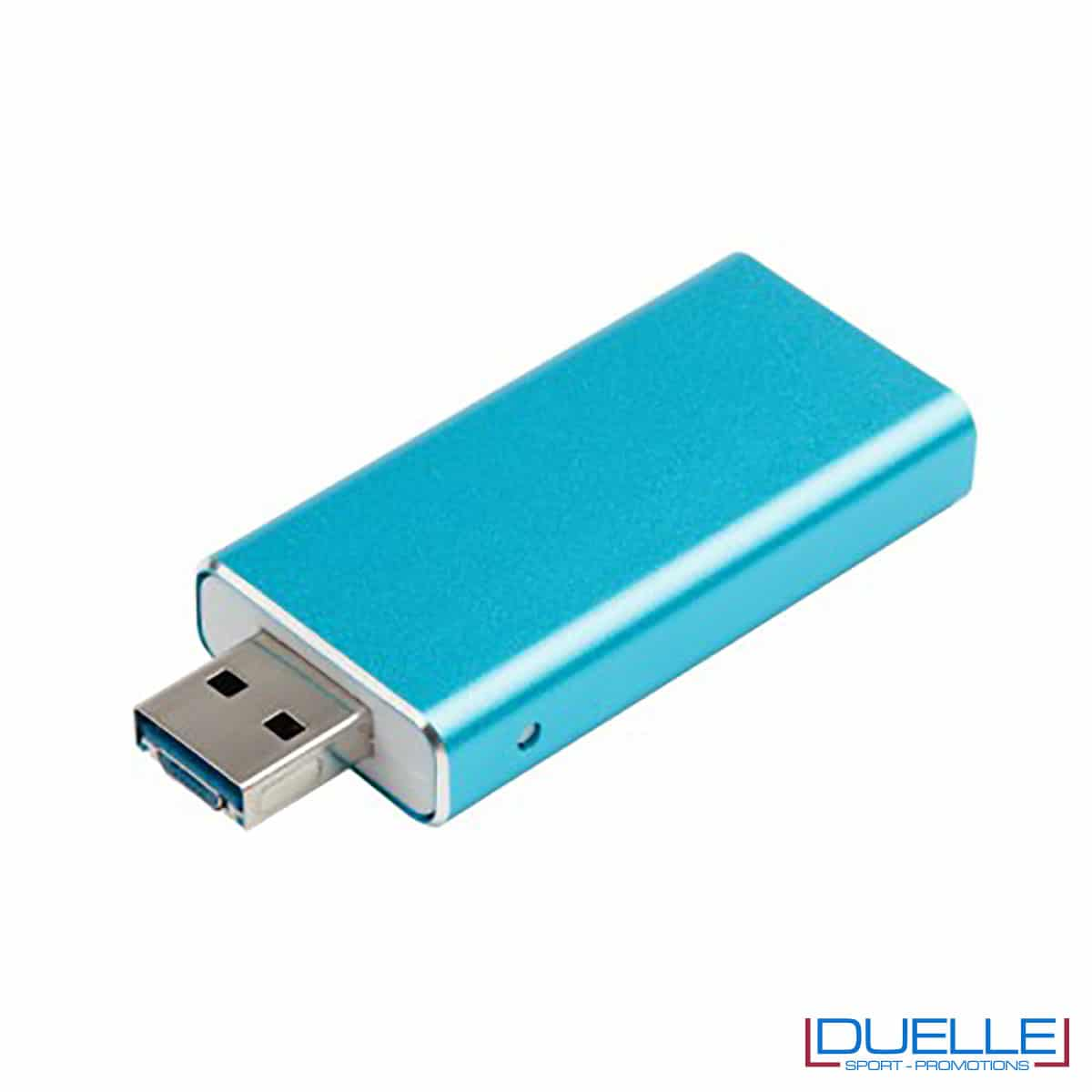chiavetta blu 3 in 1 con logo