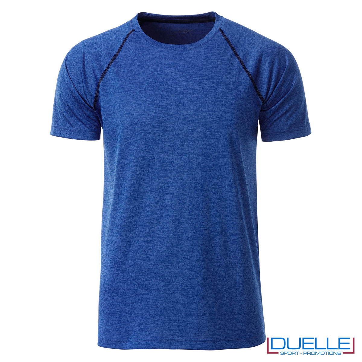 maglietta fitness maschile blu royal