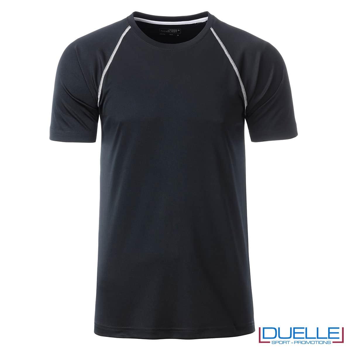 maglietta traspirante nera da uomo