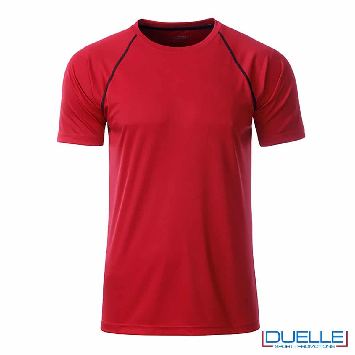 maglietta traspirante rossa uomo