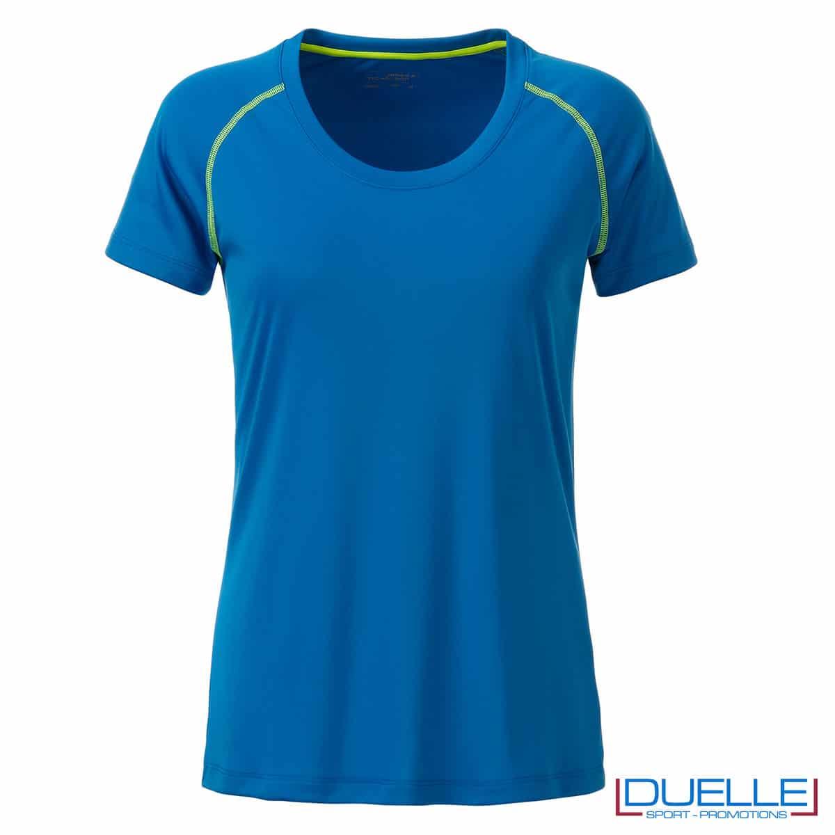 maglia traspirante donna azzurro