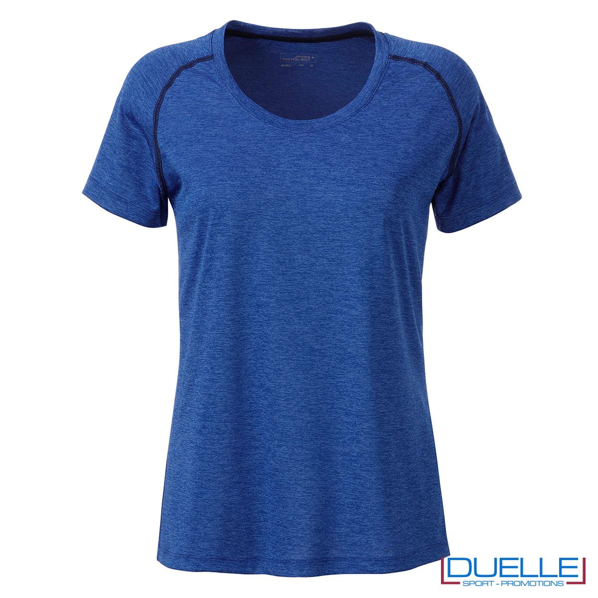 maglietta blu royal fitness femminile