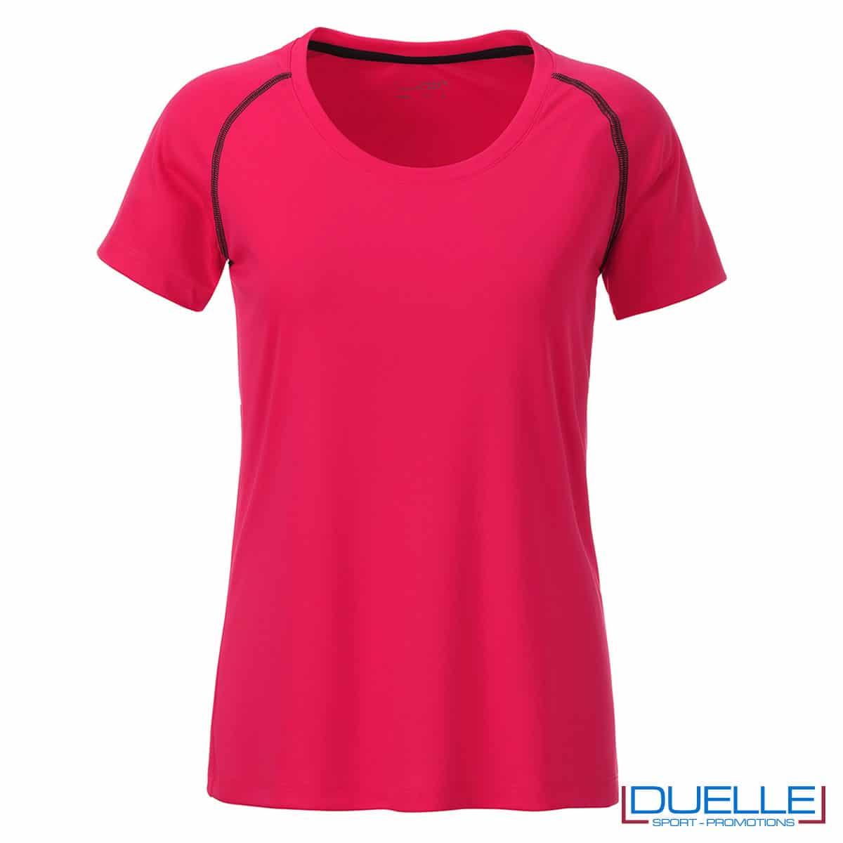 maglietta fitness femminile rosa