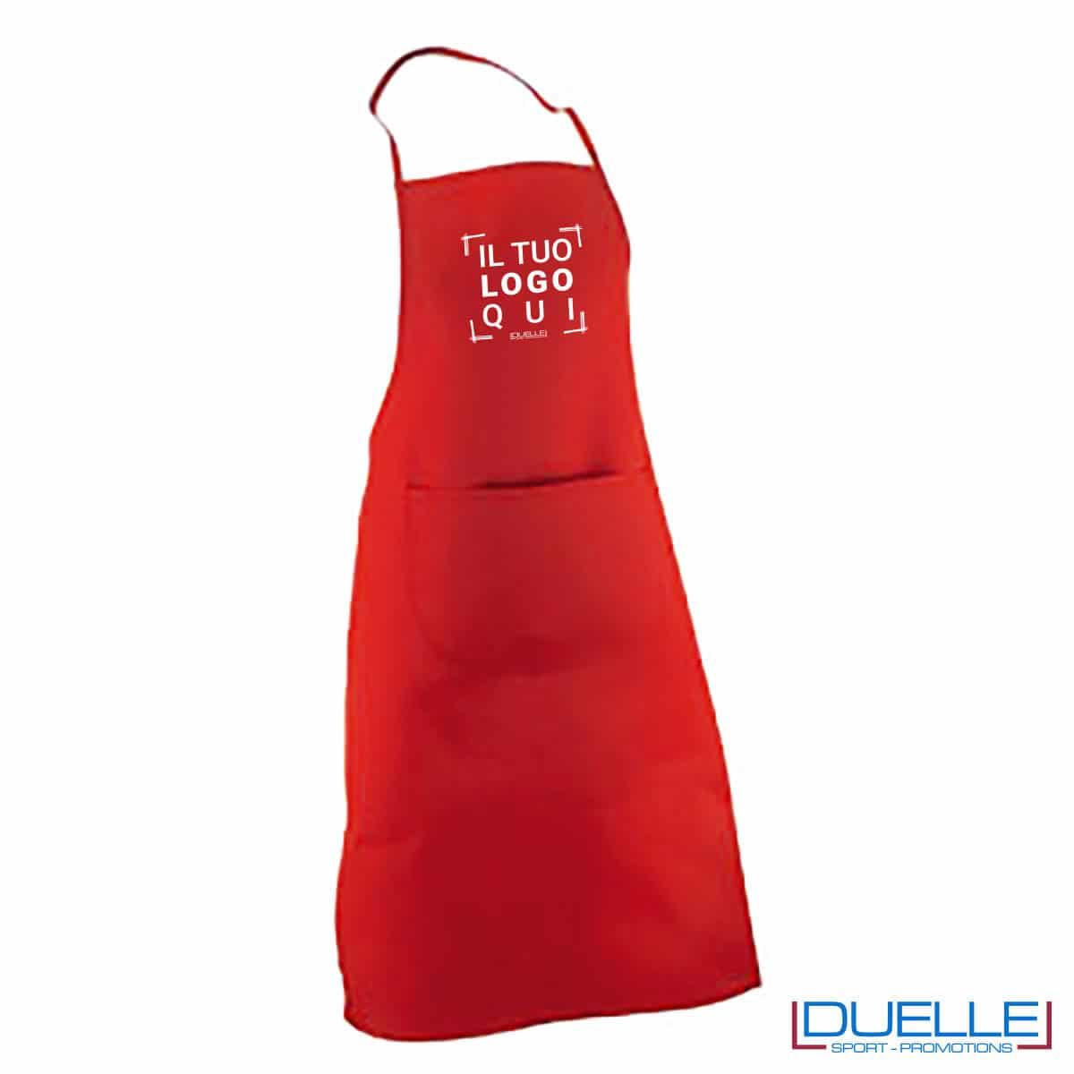 Grembiule rosso 190 gr/m2 personalizzato