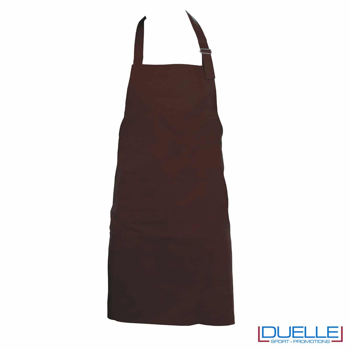 grembiule da cucina marrone lungo