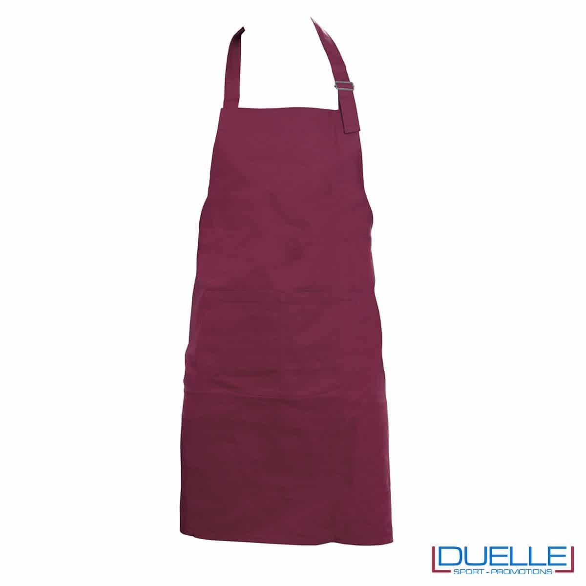 grembiule da cucina bordeaux cotone pesante