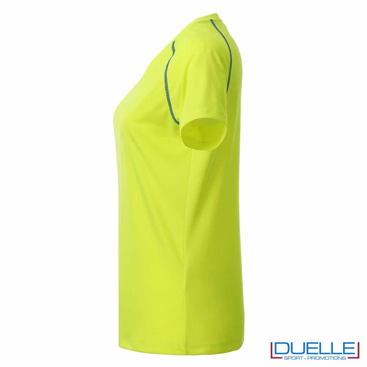 lato maglietta traspirante femminile giallo