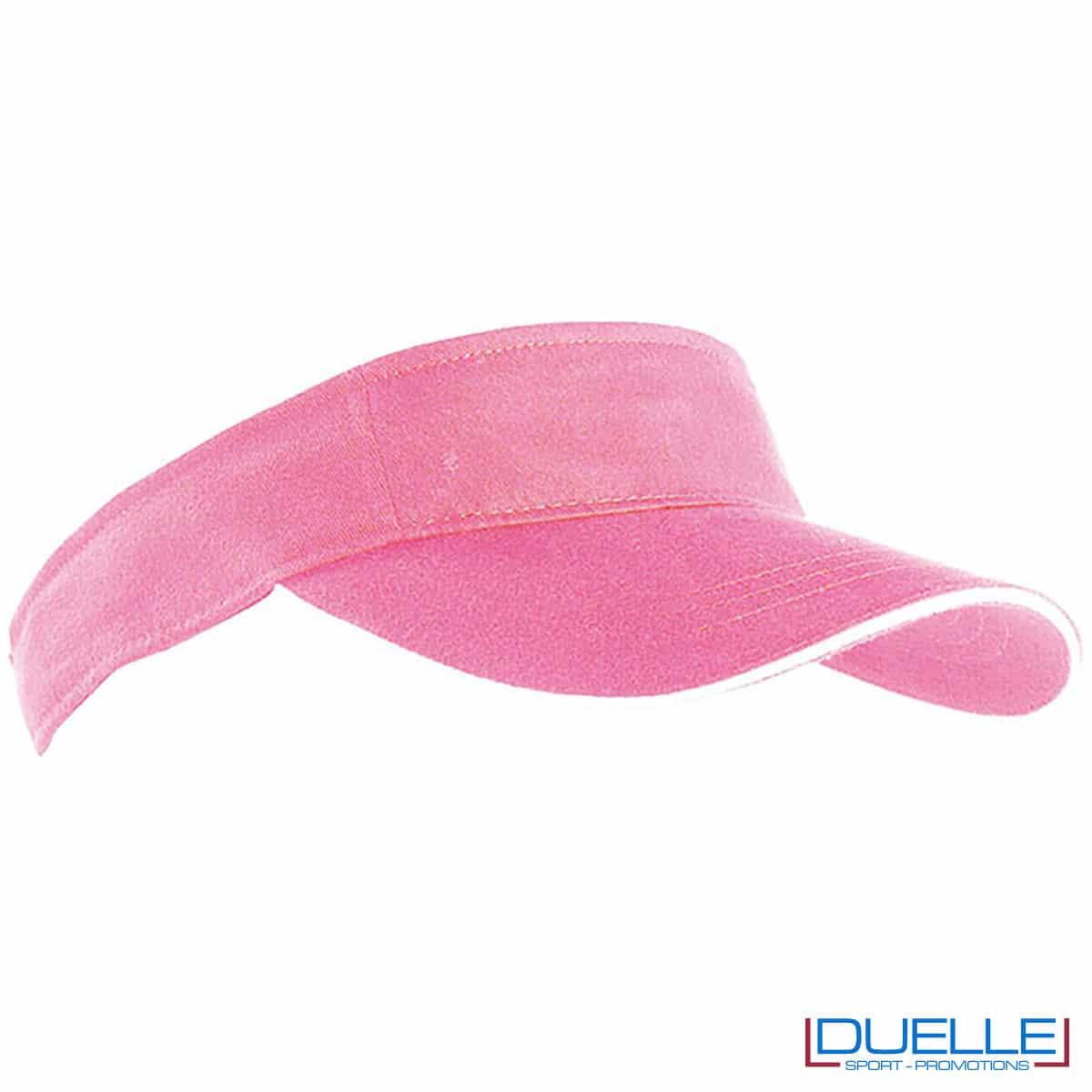 visiera a sandwich rosa sportiva