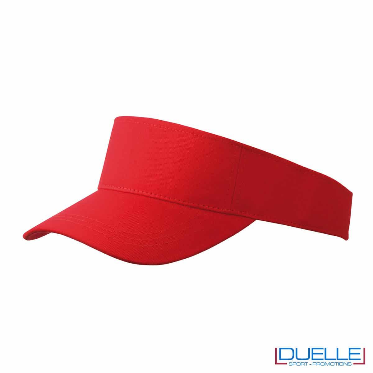 fascia con visiera rossa tergisudore