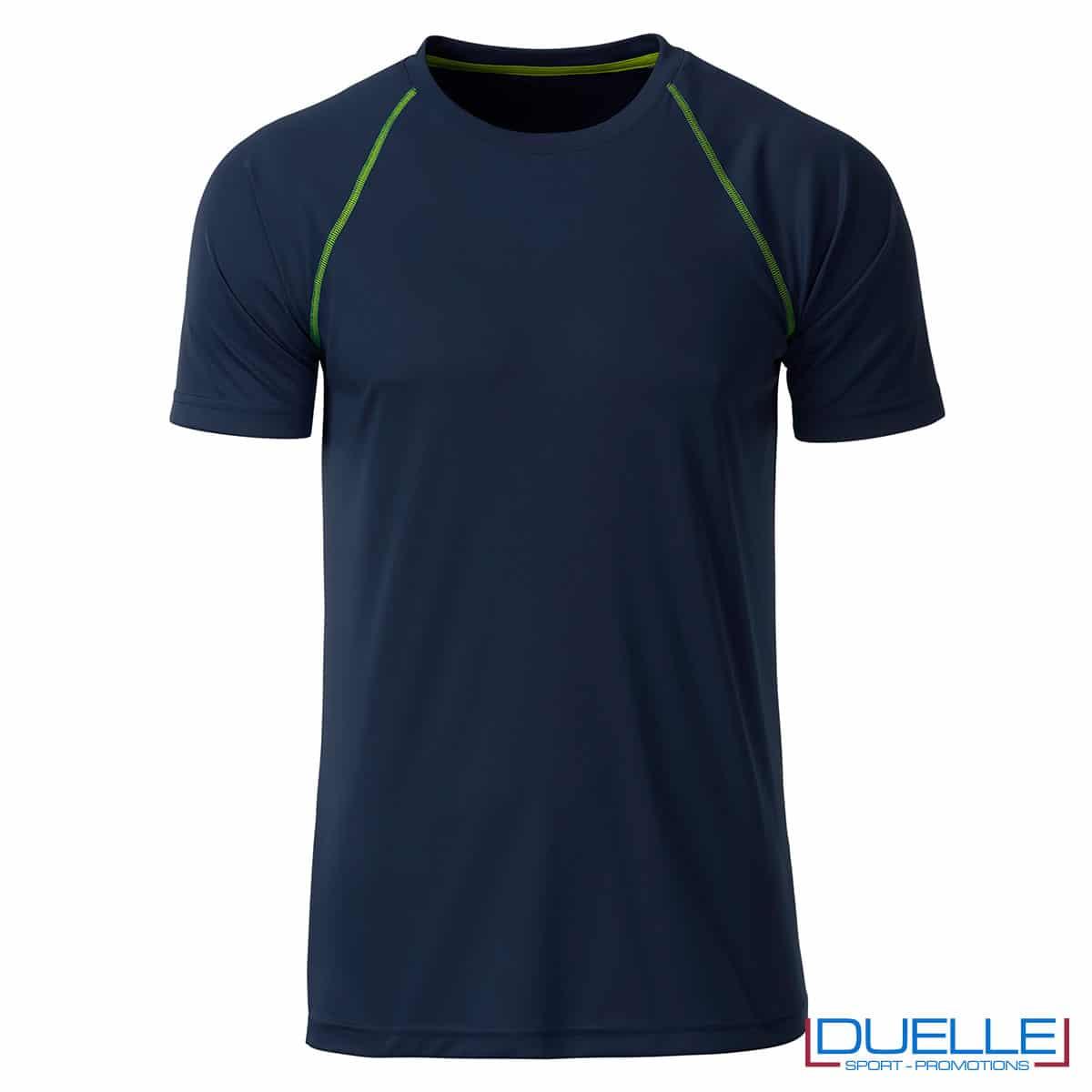 maglia blu navy fitness maschile