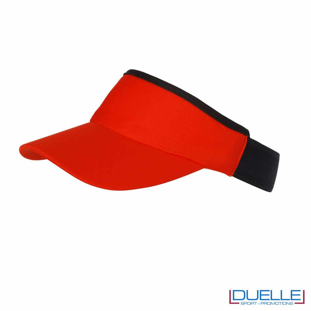 visiera rosso e nero sport