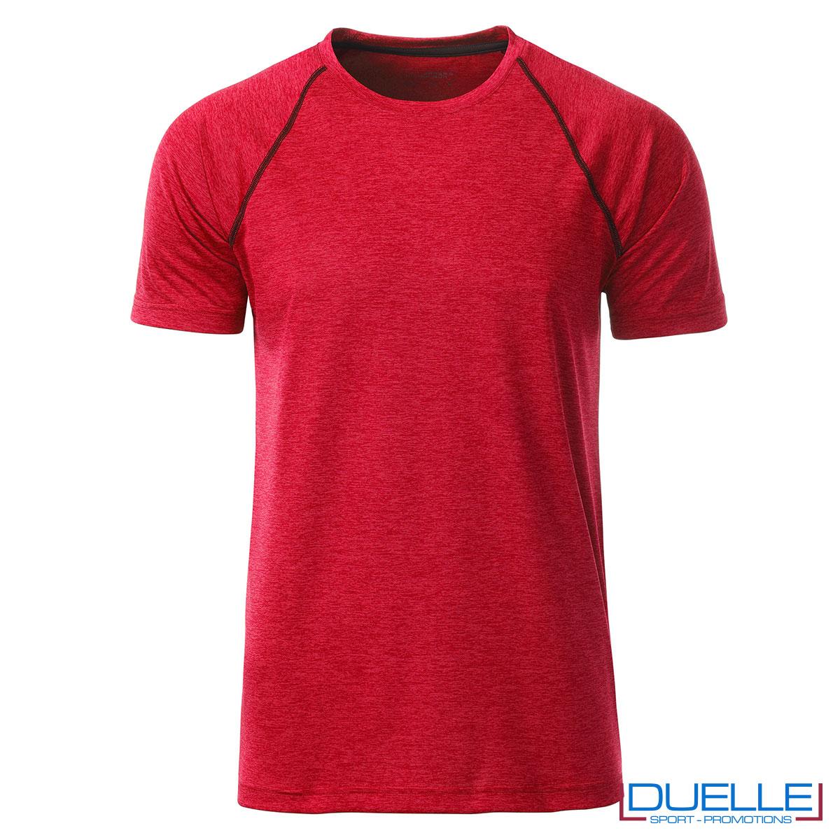 maglia rosso melange sport uomo