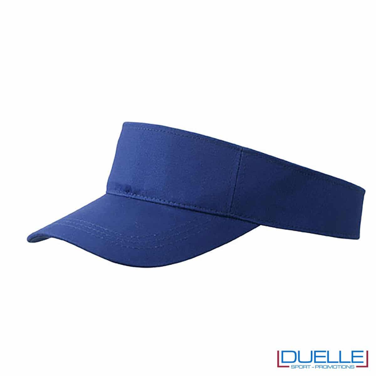 visiera azzurra sportiva per sudore