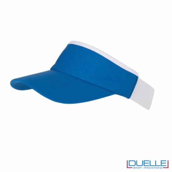 visiera blu e bianca sport